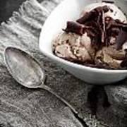 Chocolate Ice Cream Art Print
