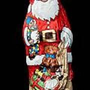 Chocolate Santa Claus Art Print