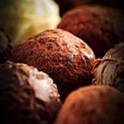 Chocolate Truffles Art Print