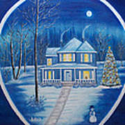 Christmas In Blue Art Print