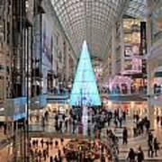 Christmas Shopping In Toronto Art Print