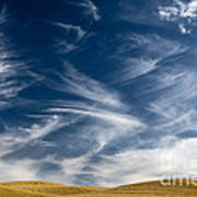 Clouds And Field Art Print