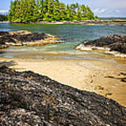 Coast Of Pacific Ocean On Vancouver Island Art Print