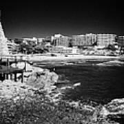 Coastal Path Past Salou Waterfront Properties On The Costa Dorada Catalonia Spain Art Print