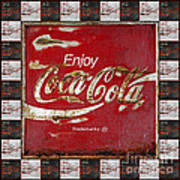 Coca Cola Signs Art Print