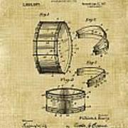 Collapsible Drum Patent 008 Art Print