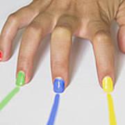 Colorful Nails Art Print