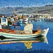 Colorful Boats Art Print