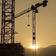 Construction Cranes Art Print