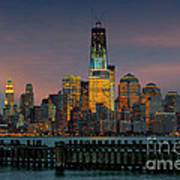 Construction Of The Freedom Tower Art Print
