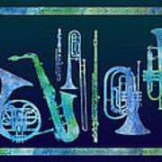 Cool Blue Band Art Print