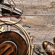 Cowboy Gear Art Print