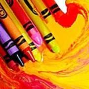 Crayon Soup Art Print