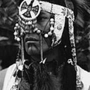 Crow Native American Traditional Dress Rodeo Gallup New Mexico 1969 Art Print