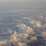 Cumulus Clouds At Sunset Art Print