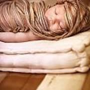 Cute Baby Sleeping Art Print