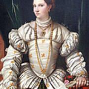 Da Brescia's Portrait Of A Lady In White Art Print