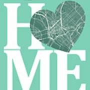 Dallas Street Map Home Heart - Dallas Texas Road Map In A Heart Art Print