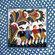 Dancing Men  Art Print