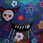 Day Of The Dead Chihuahua Art Print