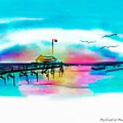 Daybreak At Pawleys Island Art Print