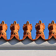Decorative Roof Tiles In Plaka Art Print