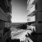 Densely Packed Salou Waterfront Properties On The Costa Dorada Catalonia Spain Art Print