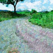 Dirty Road Painting Art Print