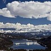 Donner Lake Donner Pass With Snow Art Print