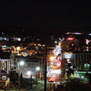 Downtown Morgantown From Above Art Print
