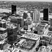 Downtown Skyline Of Toledo Ohio Art Print