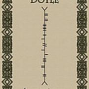 Doyle Written In Ogham Art Print