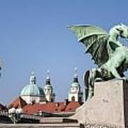 Dragon Bridge. Ljubljana. Art Print