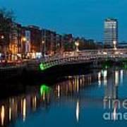 Dublin At Night Art Print