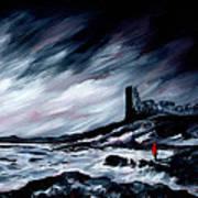 Dunure Red Coat Art Print