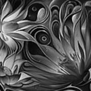 Dynamic Floral Fantasy Art Print