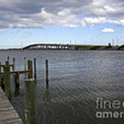 Eau Gallie Causeway Over The Indian River Lagoon At Melbourne Fl Art Print