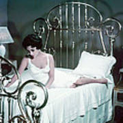 Elizabeth Taylor In Cat On A Hot Tin Roof  Art Print by Silver Screen