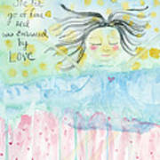Embraced By Love Art Print