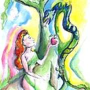 Eve And The Serpent Art Print