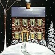 Evergreen Cottage Art Print