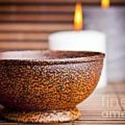 Exotic Bowl And Candles Art Print