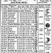 Family Almanac, 1874 Art Print