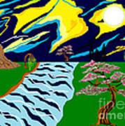 Fantasy Trees Art Print by Lewanda Laboy