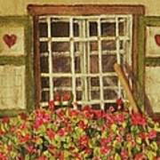 Farm Window Art Print