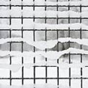 Fence With Snow Art Print