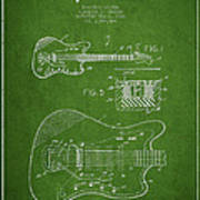 Fender Electric Guitar Patent Drawing From 1966 Art Print