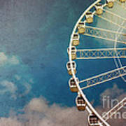Ferris Wheel Retro Art Print by Jane Rix