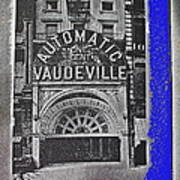 Film Homage Automatic 1 Cent Vaudeville Peep Show Arcade C.1890's New York City Collage 2013 Art Print