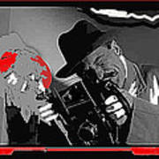 Film Homage Joe Pesci The Public Eye 1992 Weegee Screen Capture Color Added 2011 Art Print